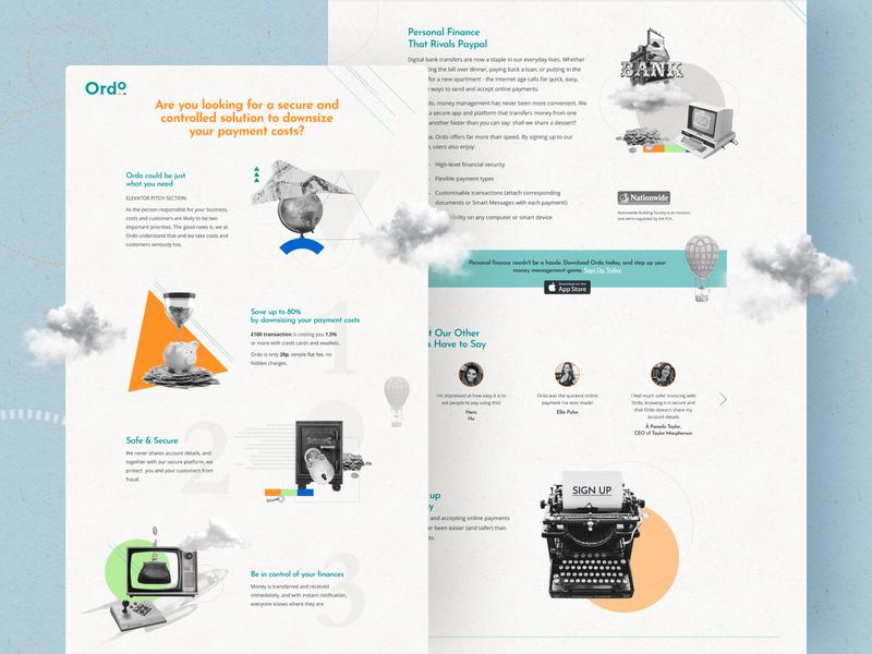 Web Version for Ordo Website custom design web ui design web ui website design web design websites ui  ux design uiux ux design ui design web interface illustration webdesign london typography vector graphicdesign billieargent design