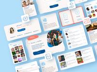 Web design for Anxiety Support Hub graphicdesign icon interface ux london design billieargent typogaphy website builder website design website web app vector ui design uiuxdesign ui  ux