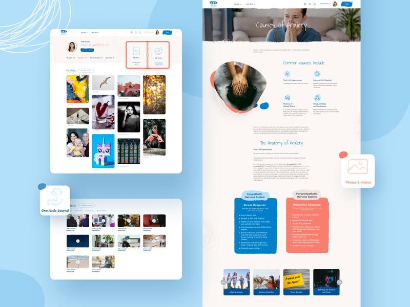 Web design for Anxiety Support Hub profile prototype layout popular graphic design app interface website design website branding design london graphicdesign icon illustration billieargent vector uiuxdesign uiux web