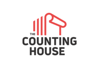 Logo Design for The Counting House structure building sign pattern red house couning digital logos graphicdesign illustration logodesign graphic branding london vector icon typography design logo