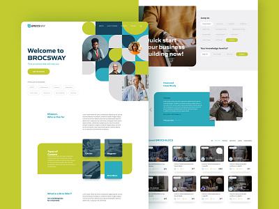 Brocsway custom website design landingpage layout modern simple wireframe uiux pattern vector minimal web webdesign interface flat website icon ui ux london custom design