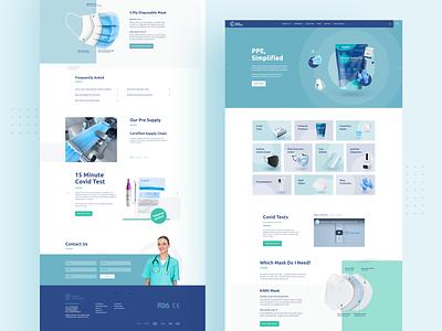Website for Cajoda Protection 😷 wordpress ecommerce product website design wireframe interface typography london web dailyui design uiux layout blue mask covid coronavirus covid19 website webdesign