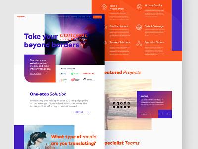 Andovar website purple orange web design website web dailyui modern mobile webdesign interface typography ui ux design
