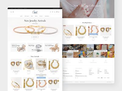 Carbo Jewelry Website Design creative gold web landing identity simple layout dailyui website webdesign icon ui ux interface london wordpress elementor ecommerce jewelry design