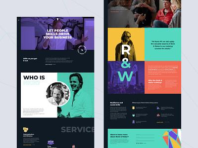 Ruwe Pit Website trend web design modern figma pattern animation dailyui training website elementor webdesign vector colored web icon illustration ux interface typography design