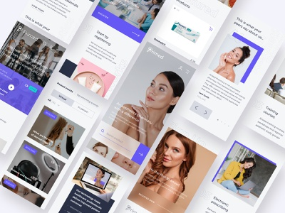Primed Pharmacy Website (mobile version) creative web page figma inspiration ecommerce shop app design clean uiux purple modern webdesign interface ui ux typography pharmacy mobile design
