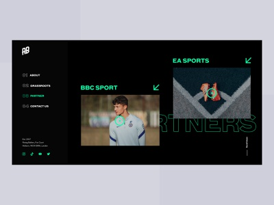 Rising Ballers Website for Football Academy neon uiux modern simple icons arrows horizontal scroll web london webdesign interface ux design wireframe layout ui soccer elementor website football