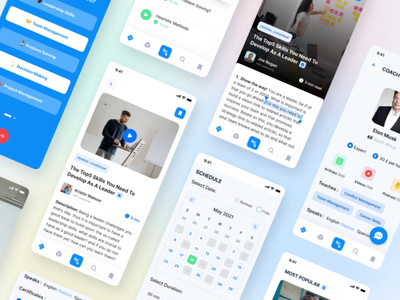 Mobile App Design for Wolfpak leadership courses🤓🏆🥇 london ui logo branding motion cards avatars appoftheday dailyui podcast dashboard mobile mobileapp layout typography design courses uiux app appdesign