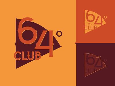 The 64° Club Logotype 🚲 womenbikers billieargent branding orange gunge typography design retrologo gothicstyle vintagestyle the64club degree club bikerclub motorbike bikerlogo bike logodesign logotype logo
