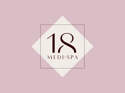 Logotype for London based exotic medical treatments branding curativetreatment curation healthproduct spacare medical 18medispa rectangle modern graphicdesign design creativedesign uniquedesign spaproduct product skincare logotype logodesign logo