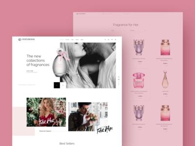 Luxurious perfume website