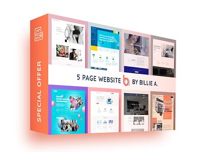 5 Page Responsive Wordpress Website Offer