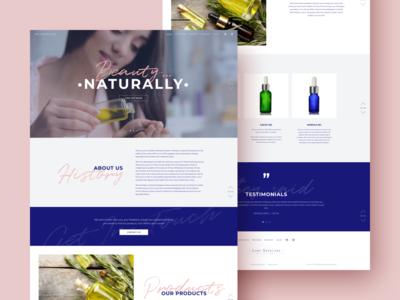 Website for 100 % natural oils