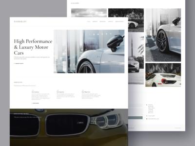 Website for luxury car retailer