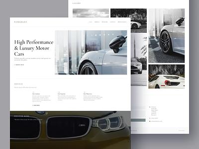 Website for luxury car retailer professional design uiux car supplier elite cars high-end luxury motorcars website concept websitedesign webdesign branding design