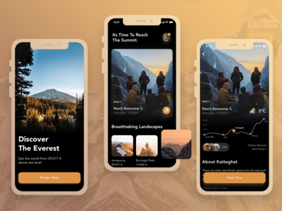 iOS Travel Guide App - UI Design