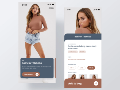 [ASOS] Fashion eCommerce App UI - Part 1