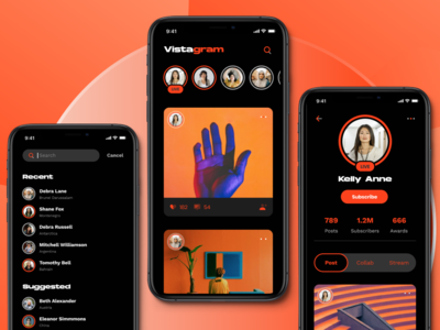 Social Media App UI Concept
