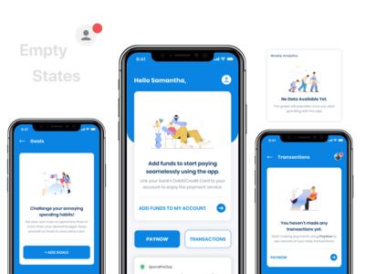 Budget App Empty States - Fintech App UX UI Design