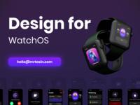 Watch OS App UI UX Design uxdesign uidesign music ecommerce animation dark minimal clean trending app watch app wearos opacity product design design ux ui watchos