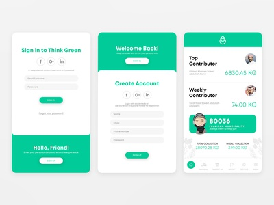Think Green App - Redesign