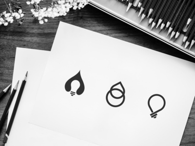 Logo sign exploration for Think Green App