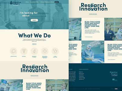 Mater Surgery - Home kooba beige cream blue navy homepage ui website medical surgery mater