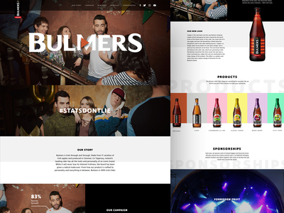 Bulmers festival product brand alcohol fullwidth video photography ui web landing cider bulmers