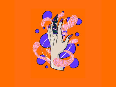 Inktober 2019 Day 01. Ring procreate magic witch pink purple orange illustration hand ring inktober2019 inktober