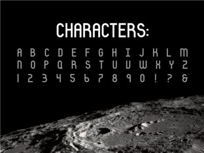 Luno Font - Characters