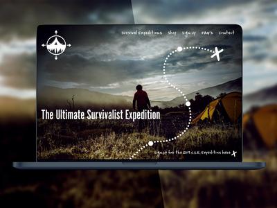 Ultimate Survivalist Expedition UI Design