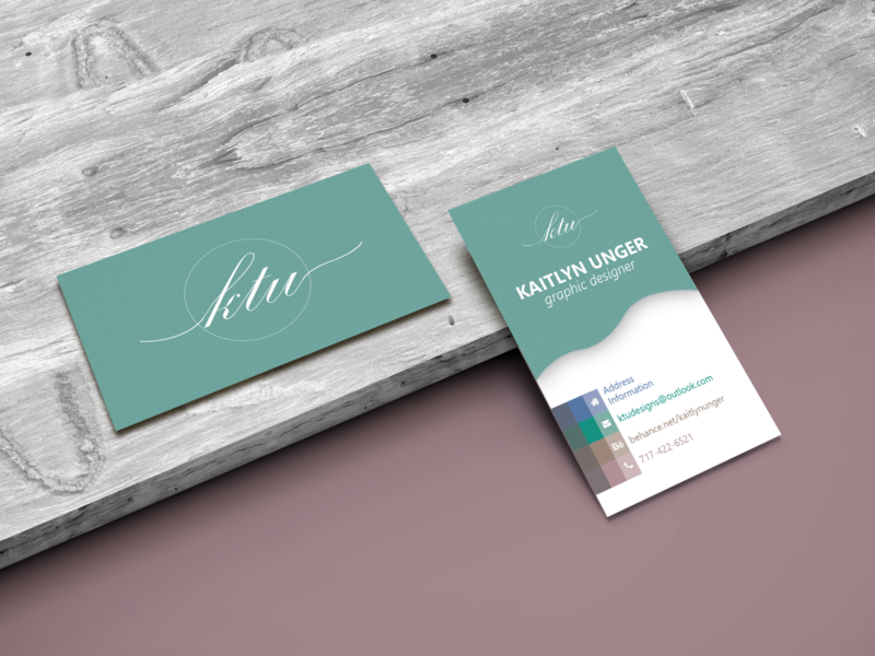 Business Cards on Wooden Plank