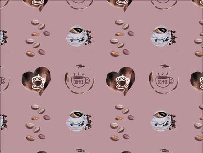 Coffee Pattern vector adobe illustrator design