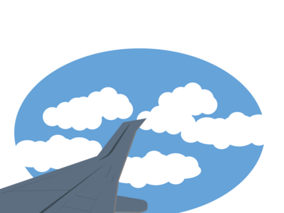 Landscape Vector - Airplane