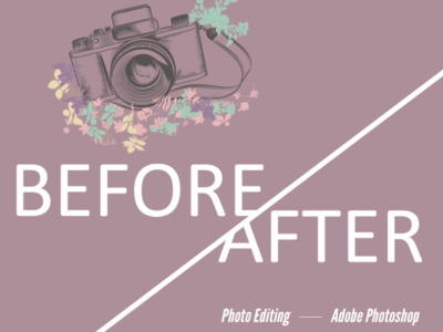 Photo Editing, Photoshop, Before and After Photos