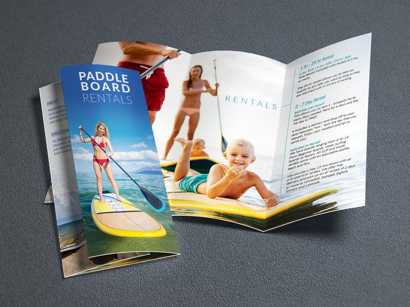 Paddle Board Rentals Brochure