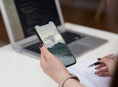 iPhone in Hand Mockup