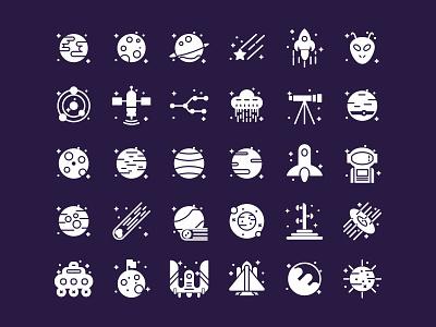 Space Icon set icons mobile ux icondesigner design ui illustration icon icondesign iconography