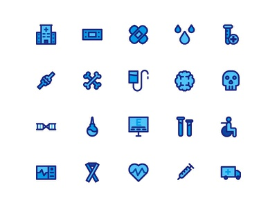 Medical Icon Set concept healthcare health medicine medical covid19 identity ux mobile iconography icondesign icon ui design