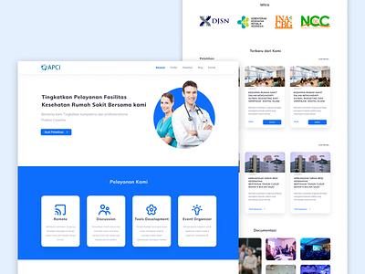 APCI Website Redesign web ui ux graphic design