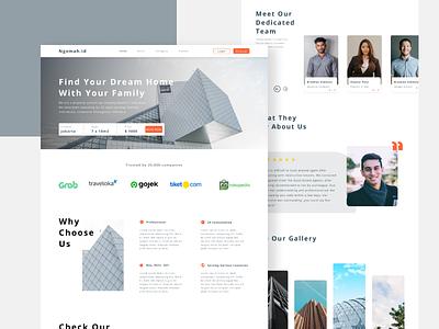 ngomah.id Real Estate Web Concept ux graphic design