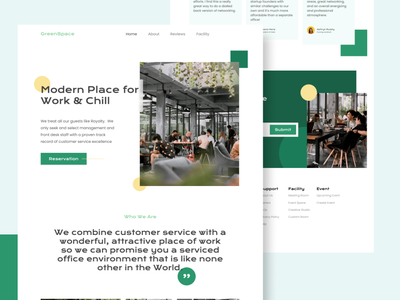 GreenSpace Coworking Web Concept branding ux graphic design