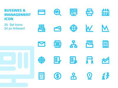 Bussines and Management Icon mobile identity illustrator lettering type minimal website flat animation web app ux icon typography branding ui vector logo design illustration