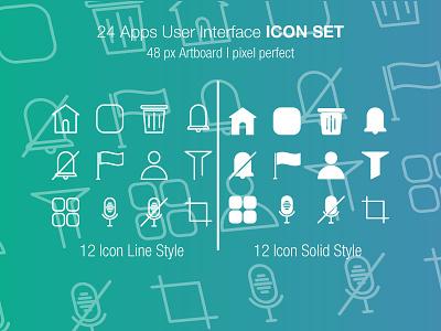 User Interface Icon Set illustration icondesigner iconography icons icondesign art ux website ios web mobile illustrator branding ui design flat identity animation icon app