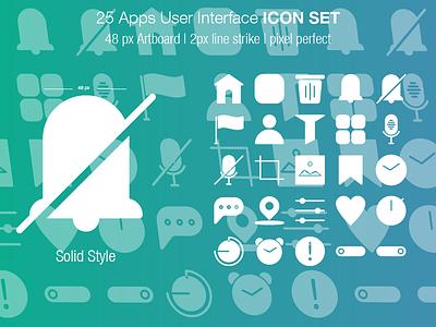 Ui Icon Set Solid brand typography logo icons iconography icondesigner icondesign website web ui ux mobile illustrator illustration identity icon design branding app animation