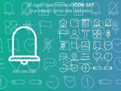 Ui Icon Set Line vector minimal brand logo icons iconography icondesigner icondesign website web ux ui mobile illustration identity icon design branding app animation