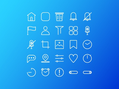 User Interface Line Style Icon iconography design icondesigner ux identity icondesign app mobile ui animation