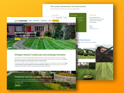Landscaping Website smallbusiness seo design bootstrap4 wordpress lawn care webdesign landscape