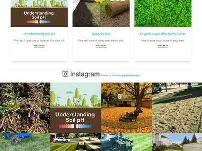 Lawn Care Website - Homepage Design gallery lawncare woocommerce wordpress ecommerce blog contact form fertilizer website landscaping homepage landing page lawn lawn care