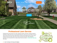 Lawn Care Website - Homepage Design
